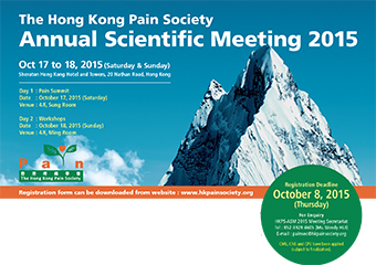 Pain Scientific Meeting 2015